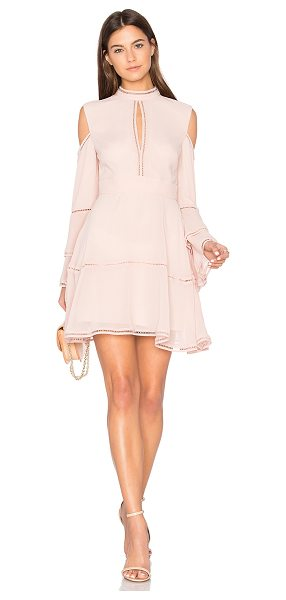 Keepsake Night Dance Mini Dress in pink - Self & Lining: 100% poly. Hand wash cold. Fully lined....