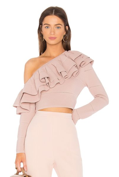 Keepsake Over Time Knit Top in blush - 68% dull rayon 32% nylon. Hand wash cold. Elasticized...