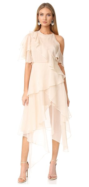 Keepsake say you will dress in sand - A delicate Keepsake dress, styled with tiered, crossover...