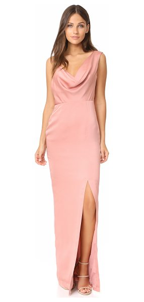 Keepsake sidelines gown in rose - A sleek Keepsake gown with a one-shoulder silhouette. A...