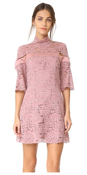 Keepsake star crossed lace mini dress in mauve - This fitted lace Keepsake mini dress is detailed with a...