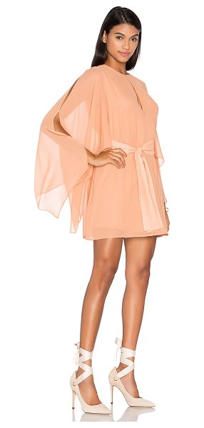 Keepsake Step Back Dress in terracotta - Self & Lining: 100% poly. Hand wash cold. Fully lined....