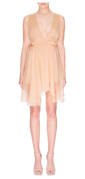 Keepsake all rise minidress in biscuit - Ethereal and glamorous, this party-ready minidress has a...