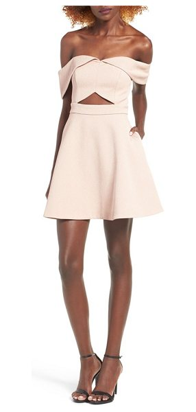 Keepsake apollo minidress in nude - Draped at the neckline and cutout at the waist, this...
