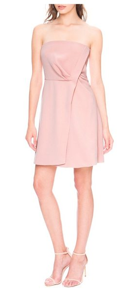 KEEPSAKE come apart fit & flare minidress - A simple twist adds elegant drape to a strapless...