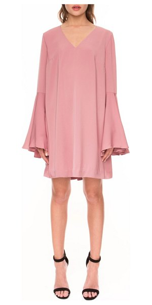 Keepsake faithful bell sleeve dress in rose pink - Flattering front darts and voluminous bell sleeves style...