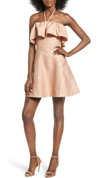 Keepsake magnolia minidress in peach - The kind of mini that's best revealed with a little...