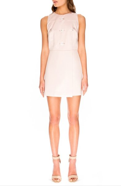 Keepsake take me away embellished shift dress in shell - Glistening beads arranged in delicate clusters add...
