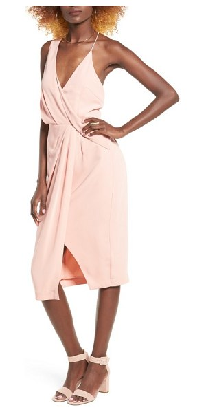 Keepsake without you asymmetrical midi dress in dusty rose - Make a jaw-dropping entrance in this modern,...