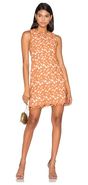 Keepsake The Moment Lace Dress in peach - Self & Lining: 100% poly. Hand wash cold. Fully lined....
