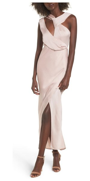 Keepsake transcend cutout gown in blush - Glamour and drama can be BFFs, you just need to give...