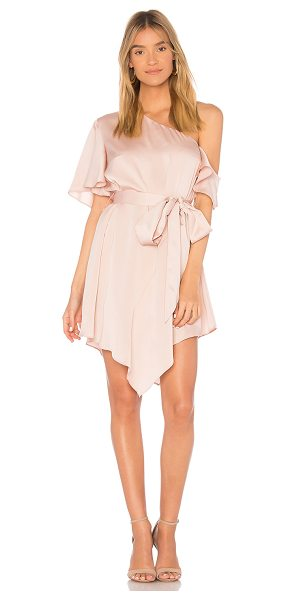 Keepsake Transcend Mini Dress in blush - Self: 98% poly 2% spandexLining: 100% poly. Hand wash...