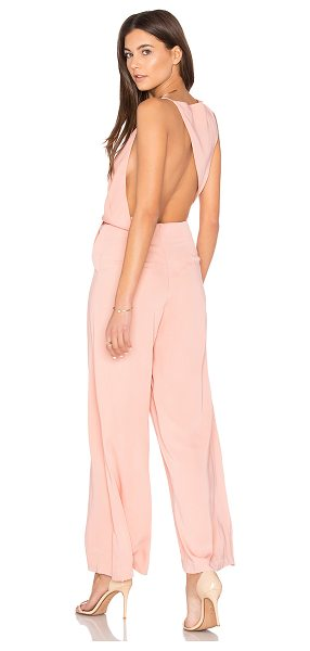 Keepsake Without You Jumpsuit in pink - Self & Lining: 100% poly. Hand wash cold. Surplice...