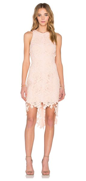 Keepsake x REVOLVE I Will Wait Dress in blush - Self: 100% cottonLining: 100% poly. Hand wash cold....