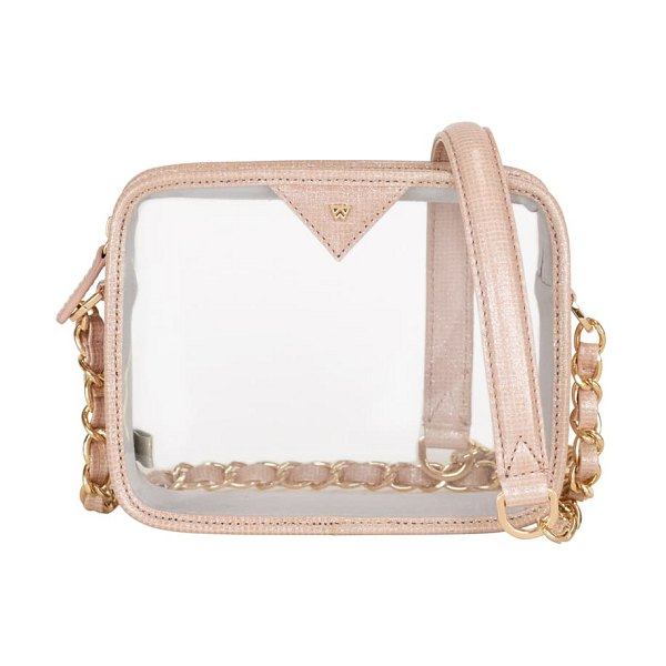 KELLY WYNNE clear mingle mingle mini crossbody bag in pink
