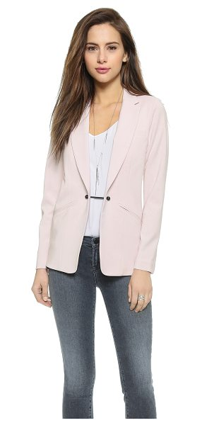 Kempner Barbell boyfriend blazer in rosewater - Mesh panels lend a sporty touch to this slouchy Kempner...