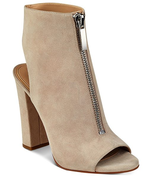 KENDALL + KYLIE Kendall and Kylie Elaine Zip Front Block Heel Sandals in tan - Kendall and Kylie Elaine Zip Front Block Heel Sandals-Shoes