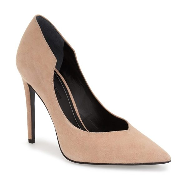 KENDALL + KYLIE abi pointy toe pump in blush suede - A sultry stiletto pump with a curvy topline is finished...