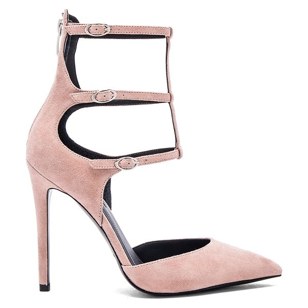 KENDALL + KYLIE Alisha heel in blush - Suede upper with man made sole. Multi ankle straps with...