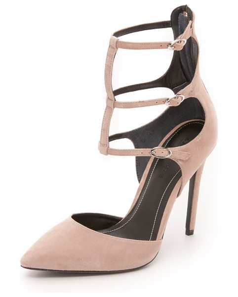 KENDALL + KYLIE Alisha pumps in medium natural - Delicate buckled straps detail these suede, pointed toe...