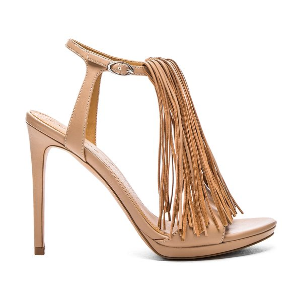 KENDALL + KYLIE Aries heel - Leather upper with man made sole. Fringe accent. Ankle...