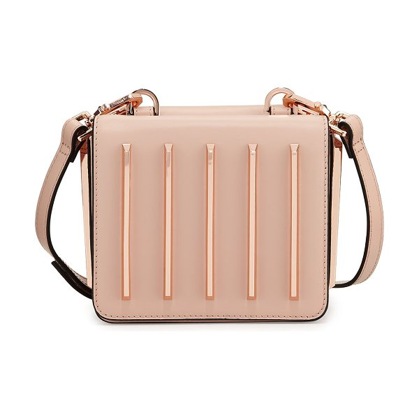 KENDALL + KYLIE Baxter Tracks Leather Crossbody Bag in pink - Kendall + Kylie metallic leather crossbody bag with...