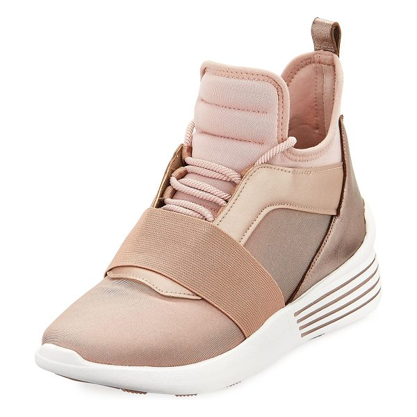KENDALL + KYLIE Braydin High-Top Trainer Sneakers in wood rose - Kendall + Kylie high-top sneaker in neoprene fabric with...