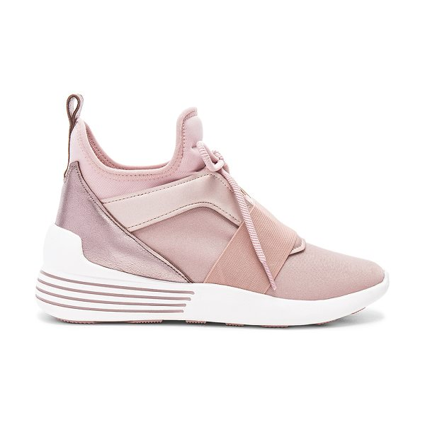 KENDALL + KYLIE Braydin Sneaker - Metallic leather and textile upper with rubber sole....