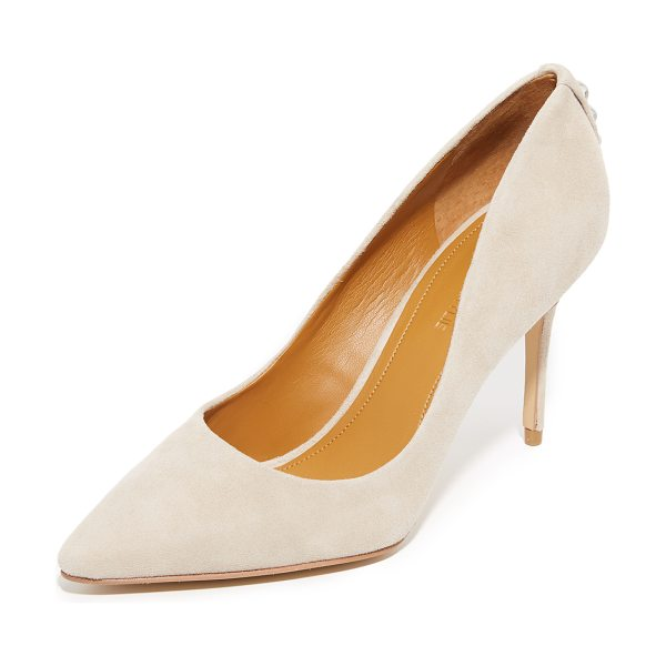 KENDALL + KYLIE britney pumps - Metallic heel accents add an edge to these suede,...