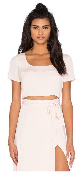 KENDALL + KYLIE Crop Top - Poly blend. Hand wash cold. Hidden back zipper closure....