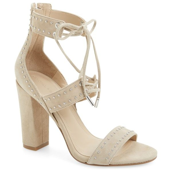 KENDALL + KYLIE dawn pump in sand leather - Pinpoint studs add just the right amount of edge to a...