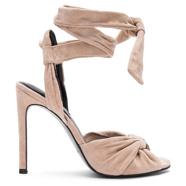 KENDALL + KYLIE Delilah Heel in nude - Suede upper with man made sole. Wrap ankle with tie...