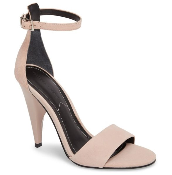 KENDALL + KYLIE emilee sandal in blush - A pointy cone-shaped heel adds a bit of avant-garde,...