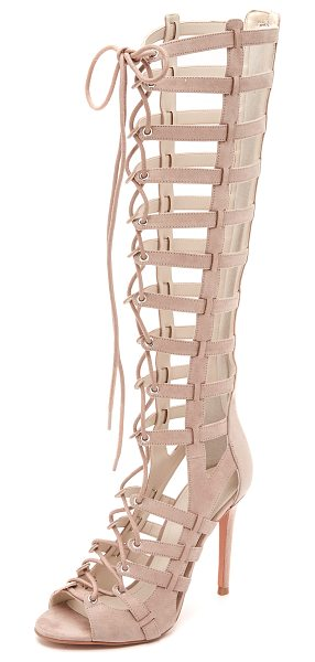 KENDALL + KYLIE Emily lace up sandals in taupe