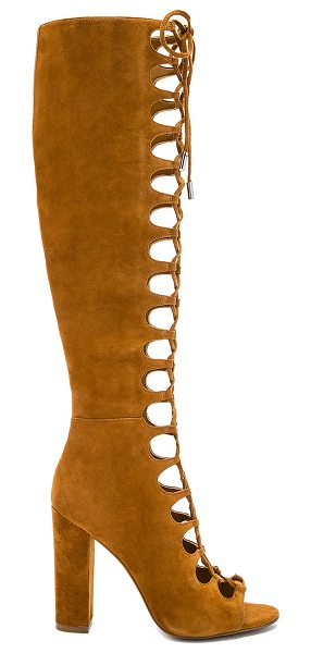 KENDALL + KYLIE Emma Heel in cognac - Suede upper with man made sole. Side zip closure....