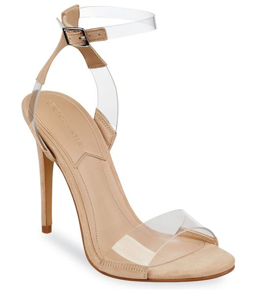 KENDALL + KYLIE enya slingback sandals in beige - On-trend sandals with transparent straps. Covered heel,...