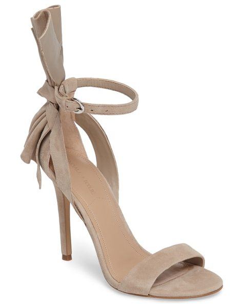 KENDALL + KYLIE eve ankle strap sandal in beige - A striking back bow adds dramatic flair to a strappy...