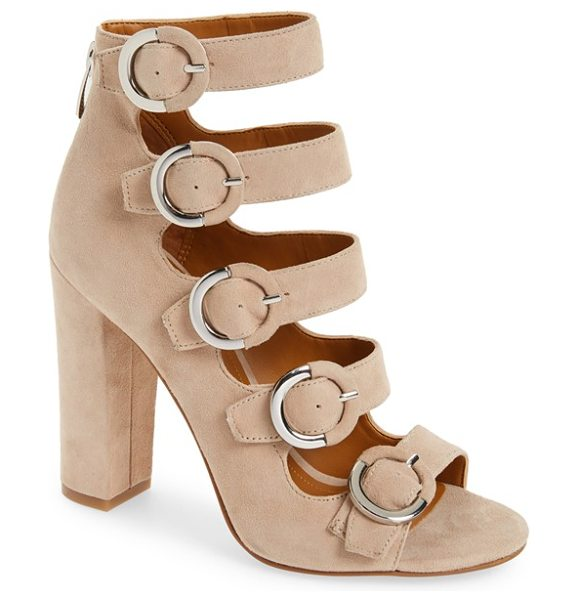 KENDALL + KYLIE evie buckle sandal - Round buckle details modernize the flawless silhouette...