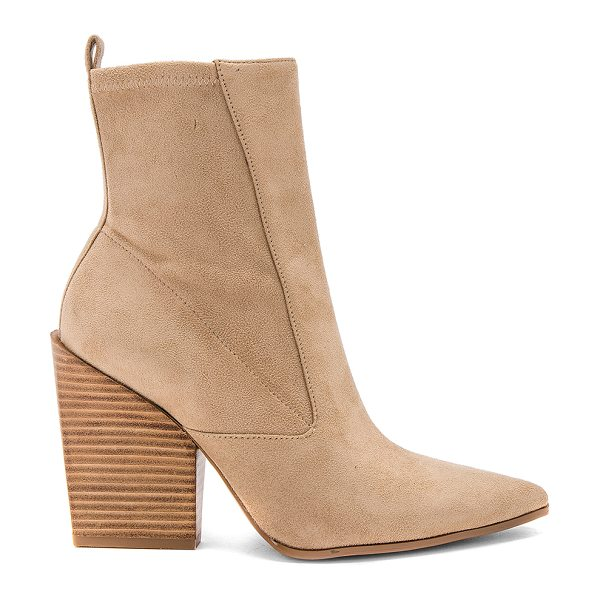 "KENDALL + KYLIE Fallyn Bootie in tan - ""Faux suede upper with man made sole. Side zip closure...."