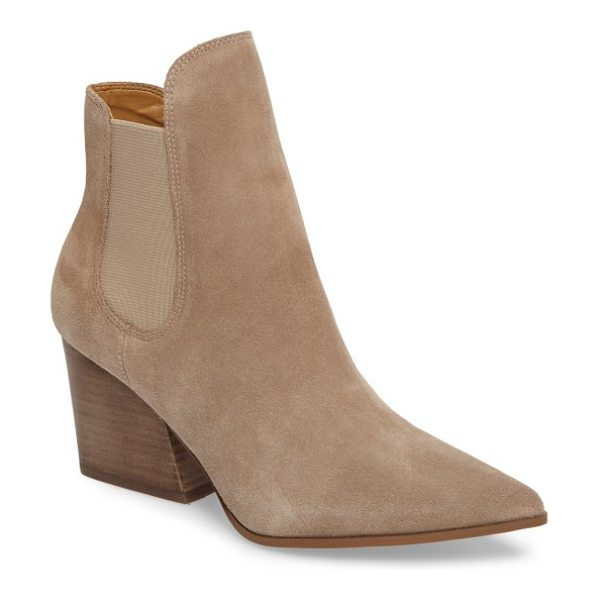 KENDALL + KYLIE 'finley' chelsea boot - A pointy toe and bold block heel add unmistakable modern...