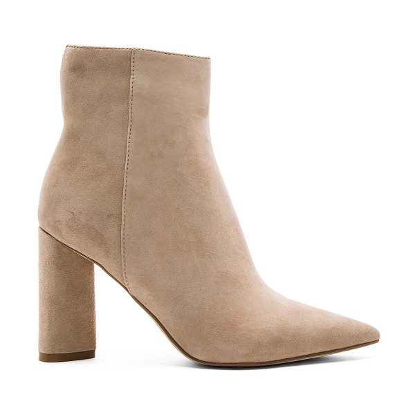 KENDALL + KYLIE Gemma Bootie in beige - Suede upper with man made sole. Side zip closure. Back...