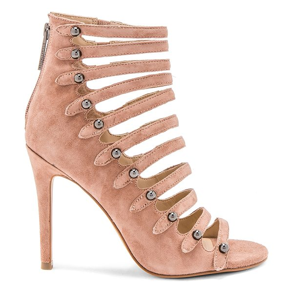 "KENDALL + KYLIE Giaa Heel in rose - ""Suede upper with man made sole. Back zip closure. Side..."