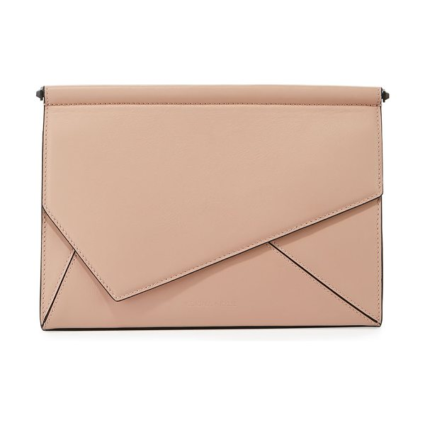 KENDALL + KYLIE Ginza Leather Clutch Bag - Kendall + Kylie smooth leather clutch bag. Asymmetric...