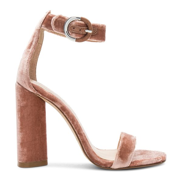 "KENDALL + KYLIE Giselle Heel in rose - ""Velvet textile upper with man made sole. Ankle strap..."