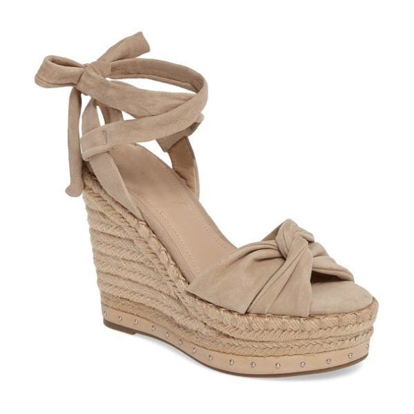 KENDALL + KYLIE grayce espadrille wedge in beige - Softly knotted straps shape the toe of a trend-savvy...