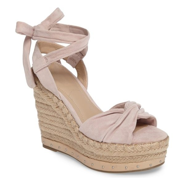 KENDALL + KYLIE grayce espadrille wedge in pink - Softly knotted straps shape the toe of a trend-savvy...