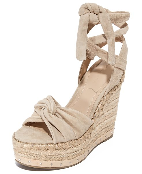 KENDALL + KYLIE grayce wedges in light natural - These KENDALL + KYLIE sandals are detailed with twisted...