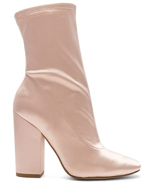 """KENDALL + KYLIE Hailey Bootie in blush - """"Satin textile upper with man made sole. Side zip..."""
