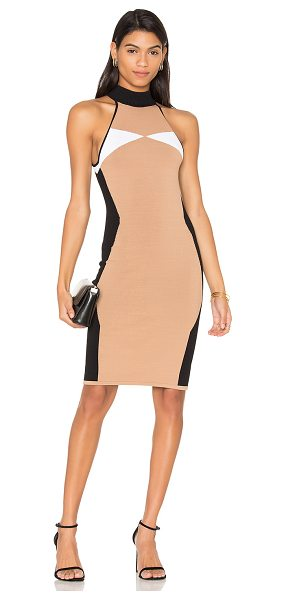 KENDALL + KYLIE Illusion Dress in beige - 65% viscose 35% nylon. Hand wash cold. Unlined. Knit...