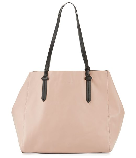 KENDALL + KYLIE Izzy Unlined Tote Bag in rose cloud/black - Kendall + Kylie colorblock calf leather tote bag. Thin...